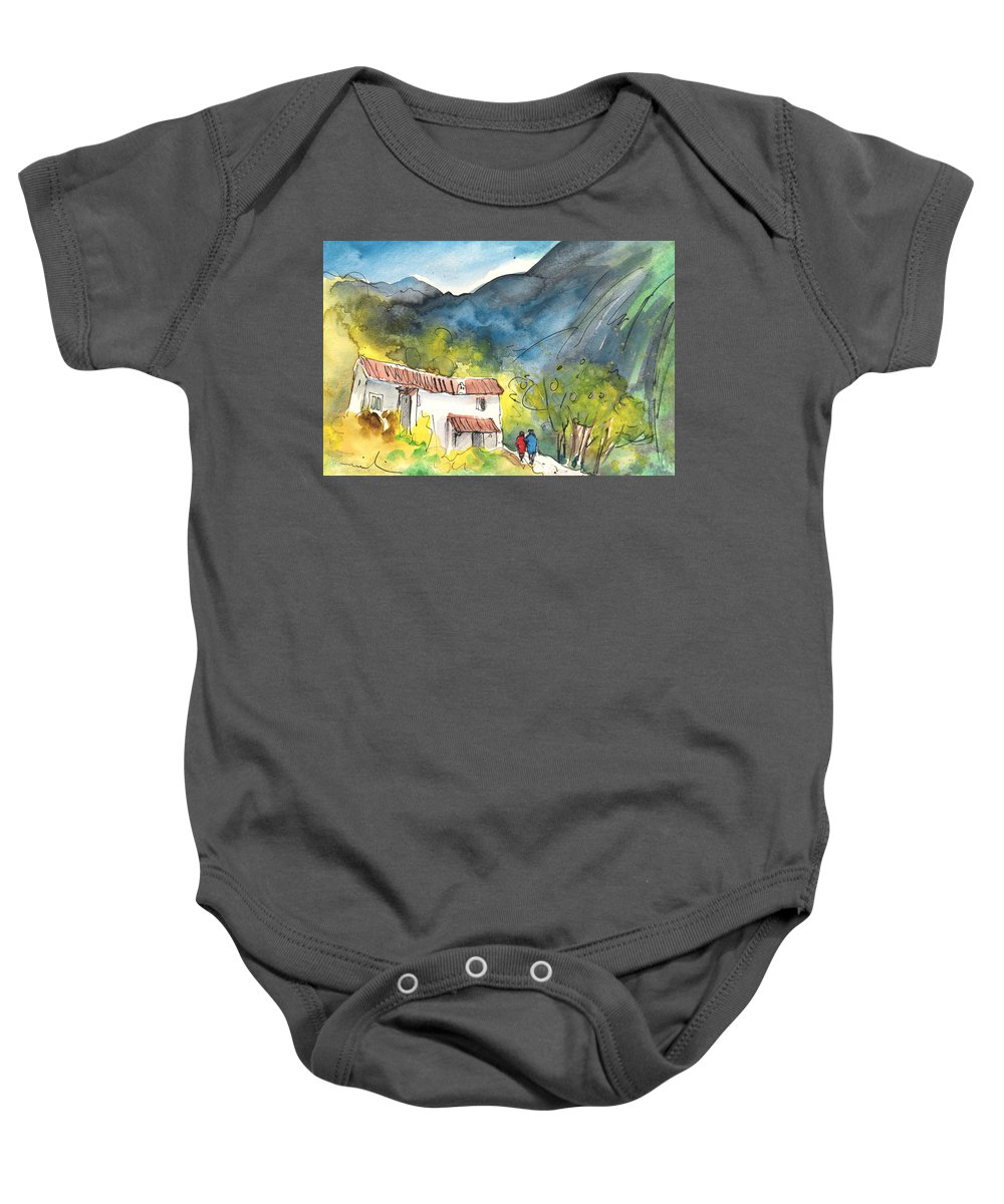 Italy Baby Onesie featuring the painting Borgo In Italy 01 by Miki De Goodaboom