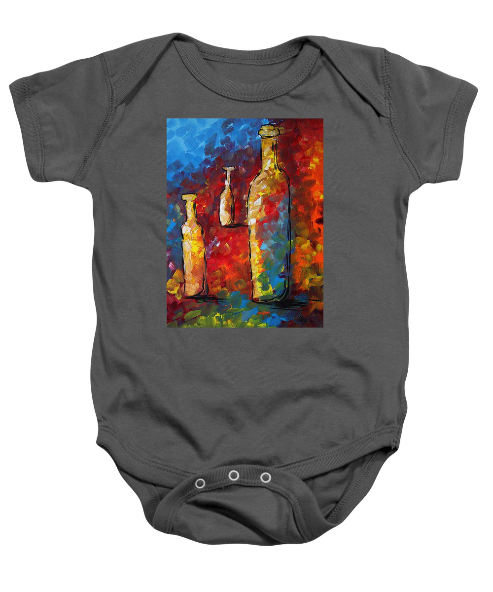 Abstract Baby Onesie featuring the painting Bottled Dreams by Megan Duncanson