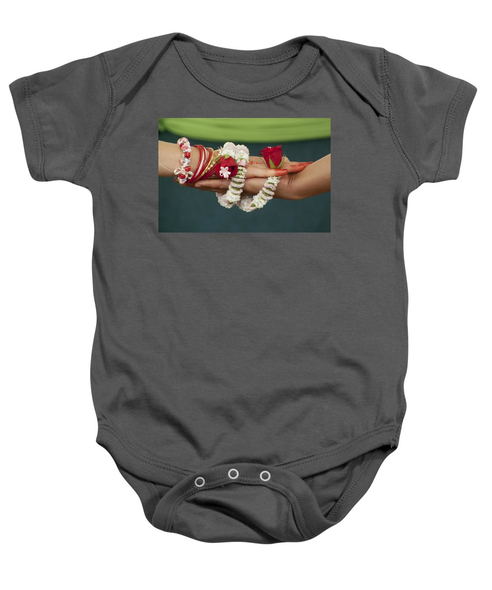 Bound Baby Onesie featuring the photograph Bound For Eternity by Daniel Csoka