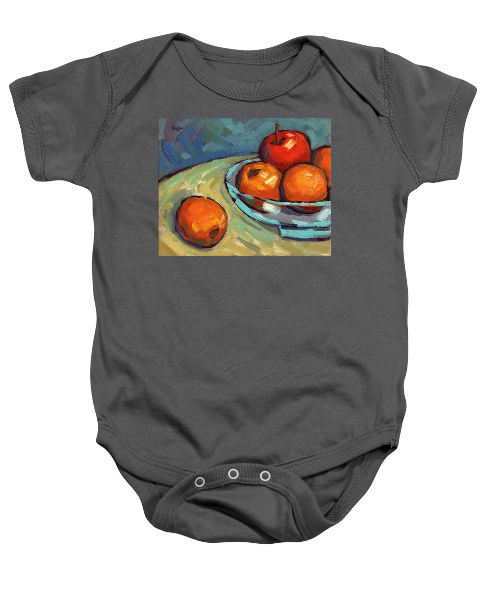 Lemons Baby Onesie featuring the painting Bowl Of Fruit 2 by Konnie Kim