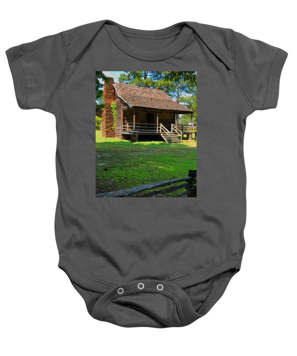 Bradley House Baby Onesie featuring the photograph Bradley House Camden Sc by Bob Pardue
