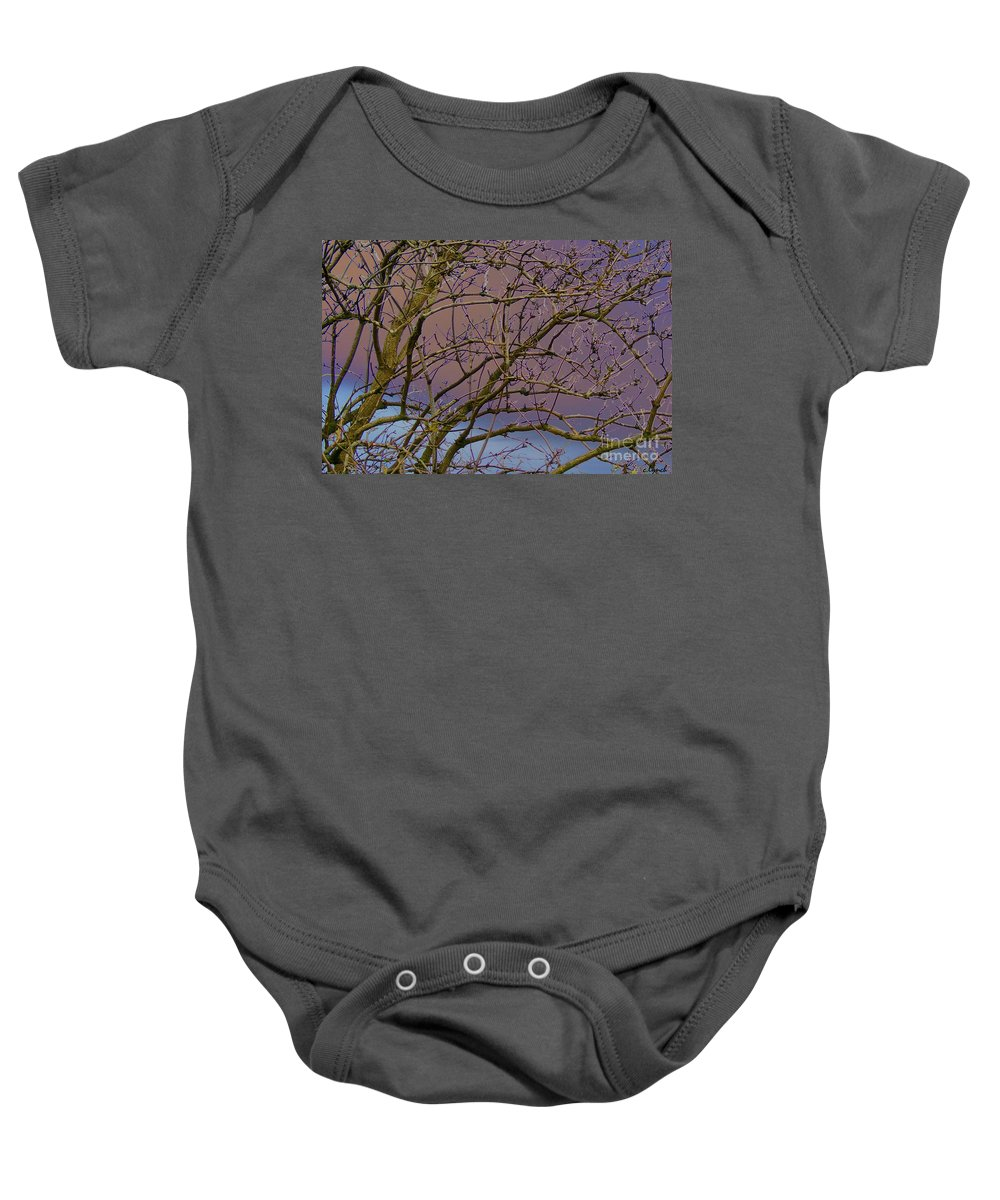 Branches Baby Onesie featuring the digital art Branches by Carol Lynch