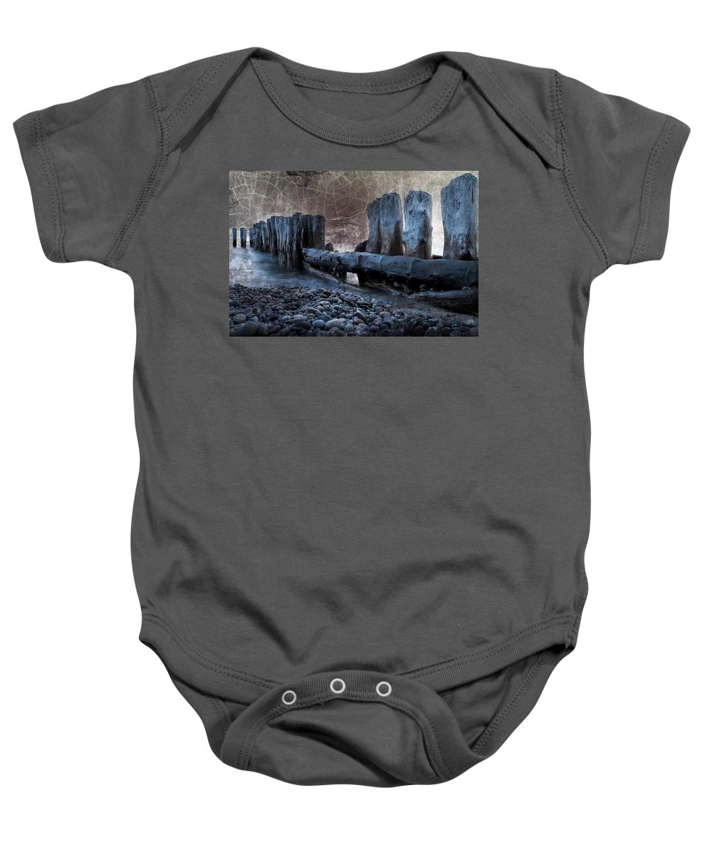 Evie Baby Onesie featuring the photograph Breakers At Whitefish Point Michigan by Evie Carrier
