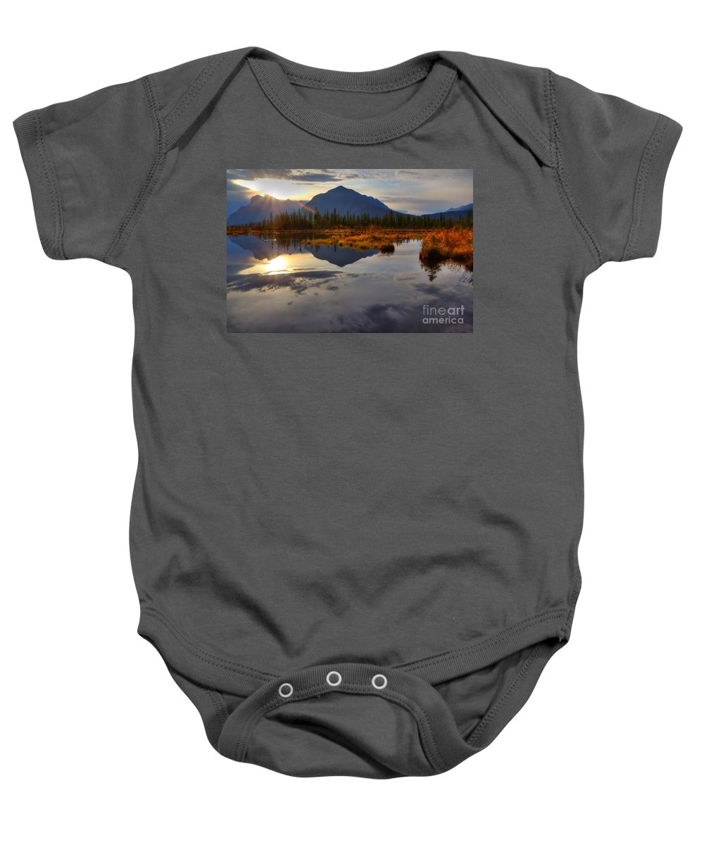 Banff National Park Baby Onesie featuring the photograph Breaking Dawn by James Anderson