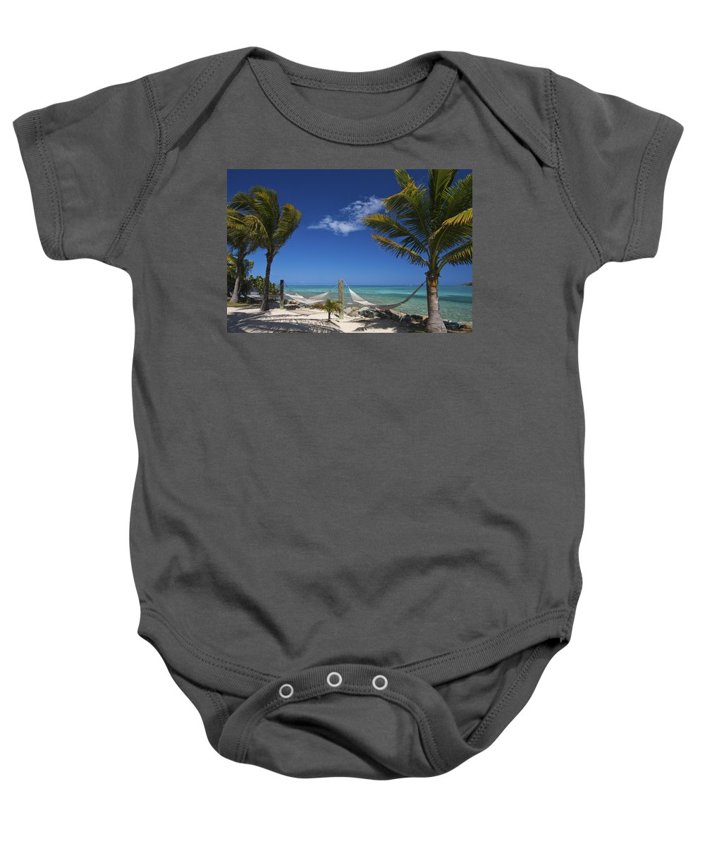 3scape Baby Onesie featuring the photograph Breezy Island Life by Adam Romanowicz