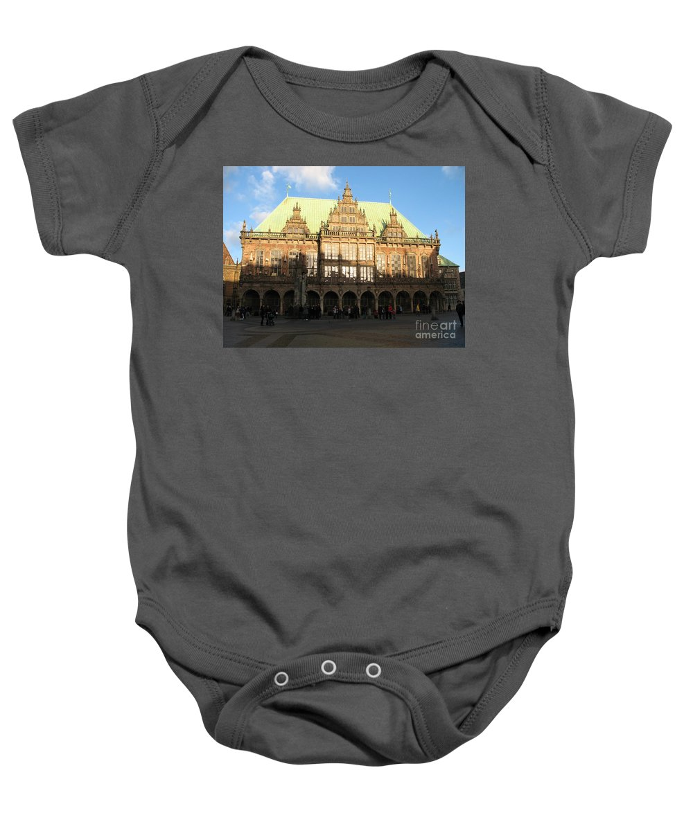 Cityhall Baby Onesie featuring the photograph Bremen Town Hall Germany by Christiane Schulze Art And Photography