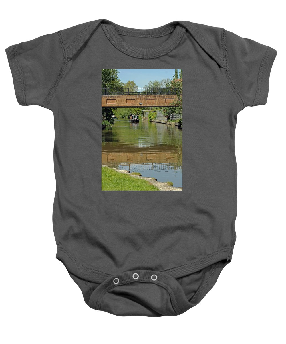 Elizabeth Jennings Way Bridge Baby Onesie featuring the photograph Bridge 238b Oxford Canal by Tony Murtagh