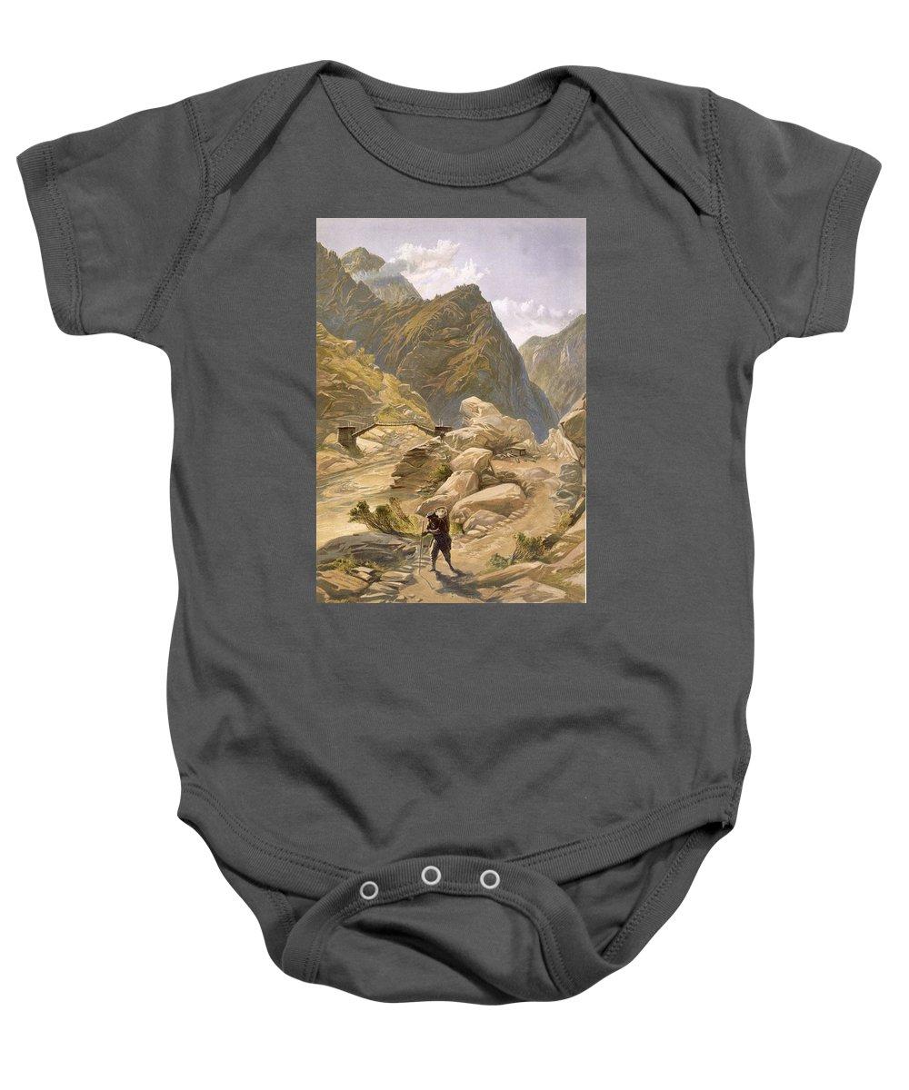 Indian Peaks Wilderness Drawings Baby Onesies