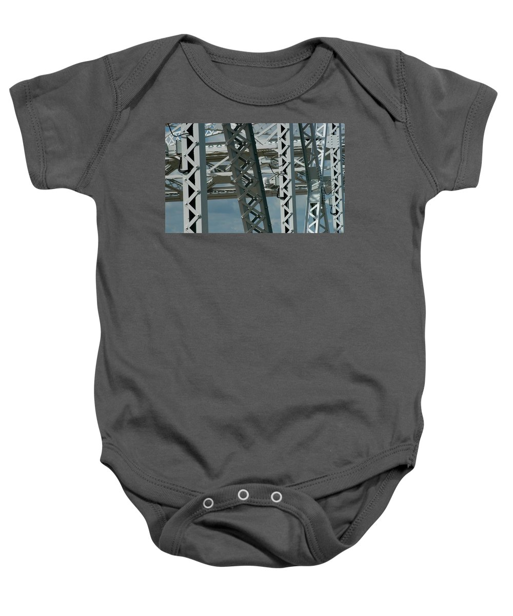 Cumberland River Baby Onesie featuring the photograph Bridge Walk by Joseph Yarbrough