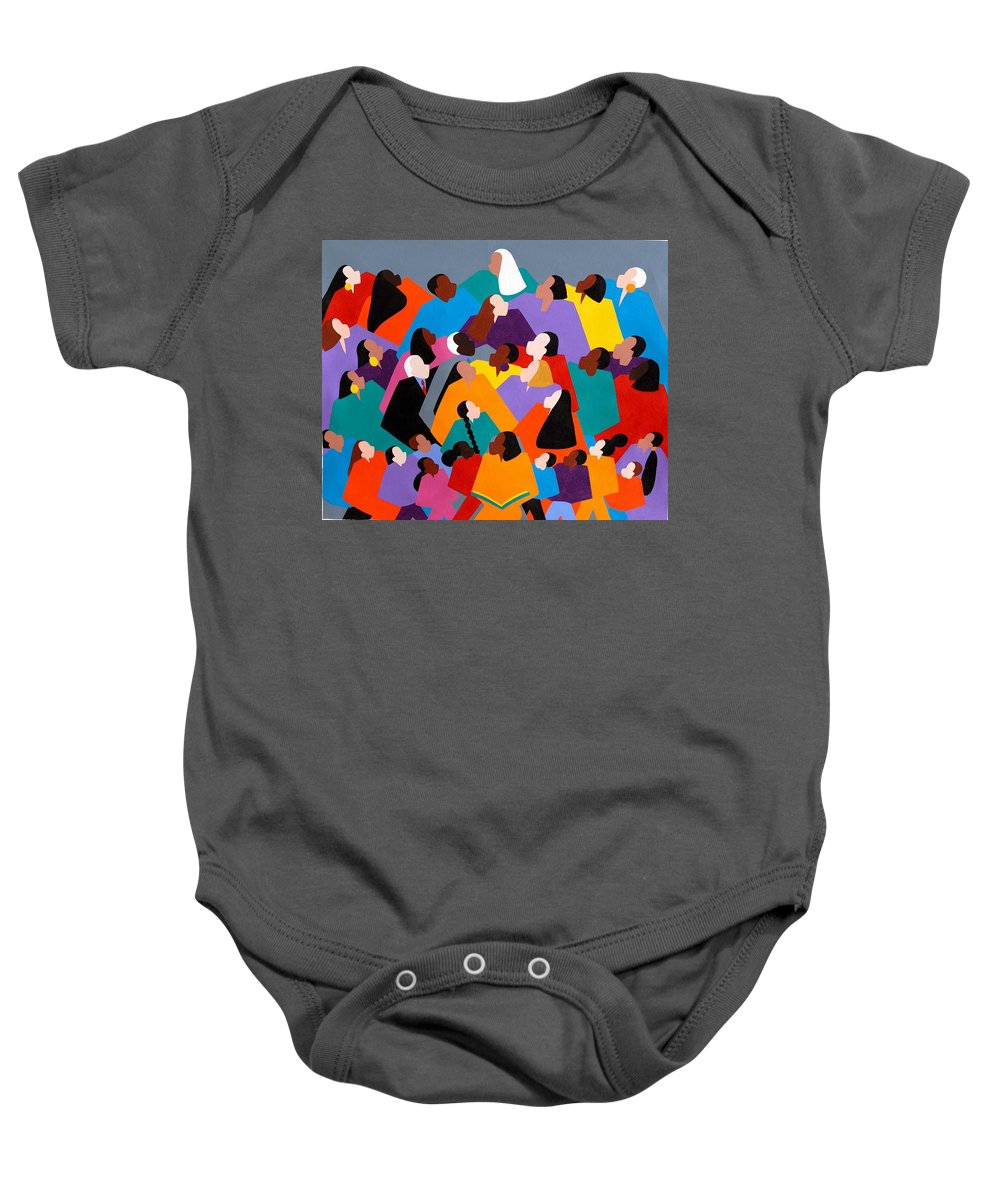 Figurative Baby Onesie featuring the painting Brilliance by Synthia SAINT JAMES