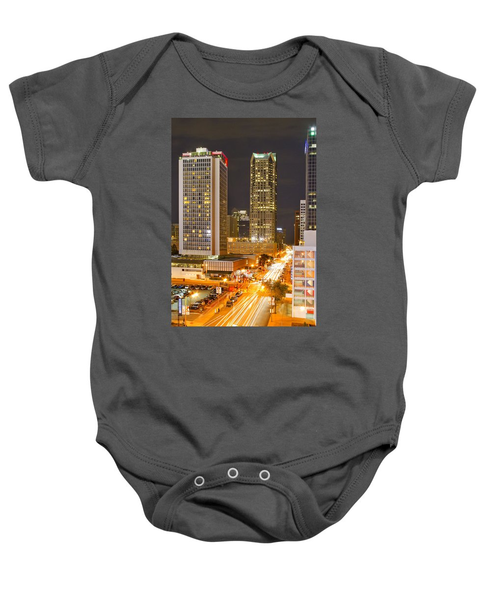 St Louis Baby Onesie featuring the photograph Broadway St Louis by Garry McMichael