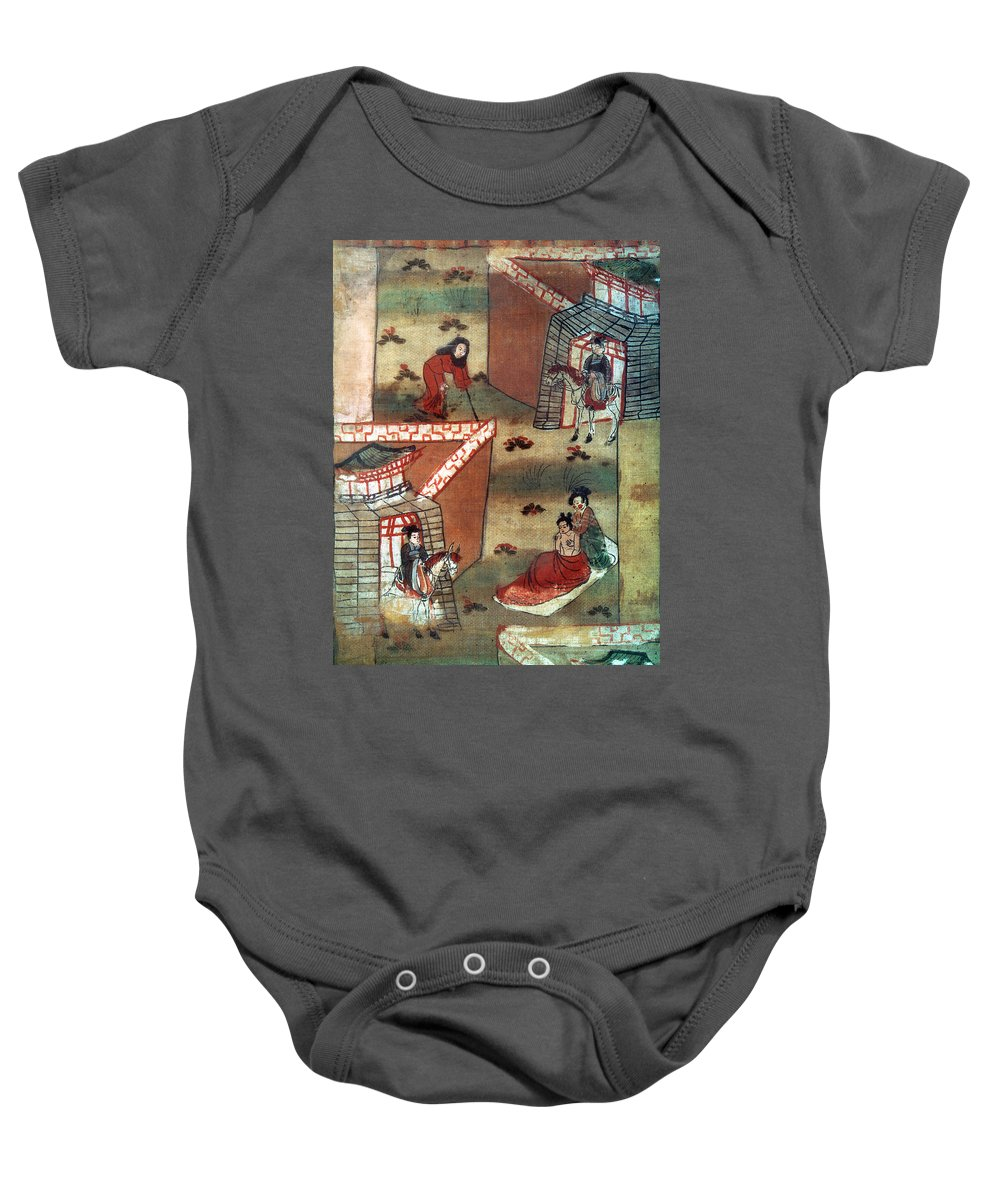 10th Century Baby Onesie featuring the painting Buddha Prince Siddhartha by Granger