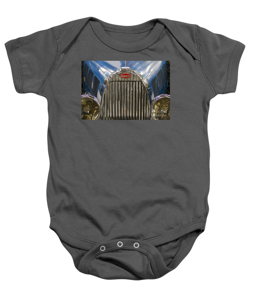 Heiko Baby Onesie featuring the photograph Bugatti In Blue by Heiko Koehrer-Wagner