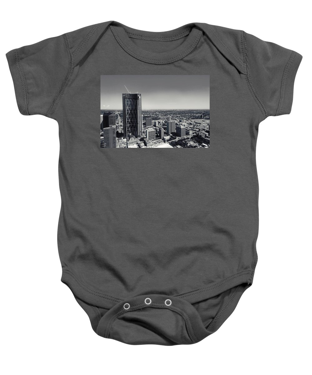 Lisa Knechtel Baby Onesie featuring the photograph Building The Bow by Lisa Knechtel