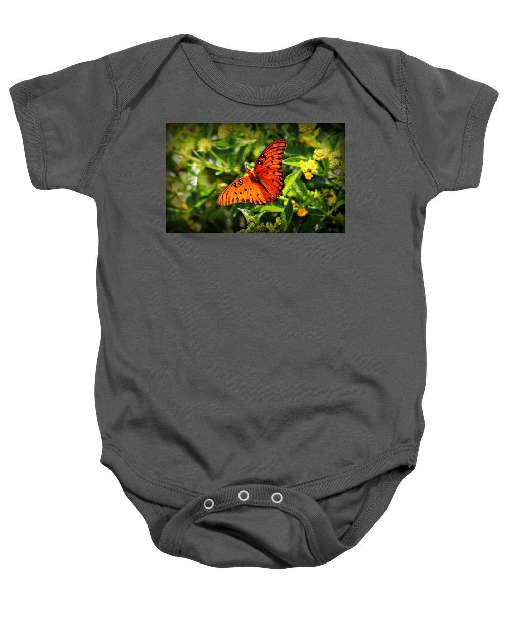 Butterfly Baby Onesie featuring the photograph Butterfly 2 by Reid Callaway