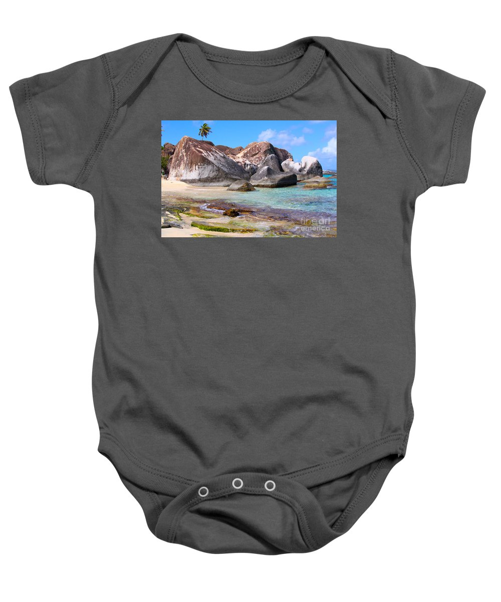 Baths Baby Onesie featuring the photograph Bvi Paradise by Carey Chen