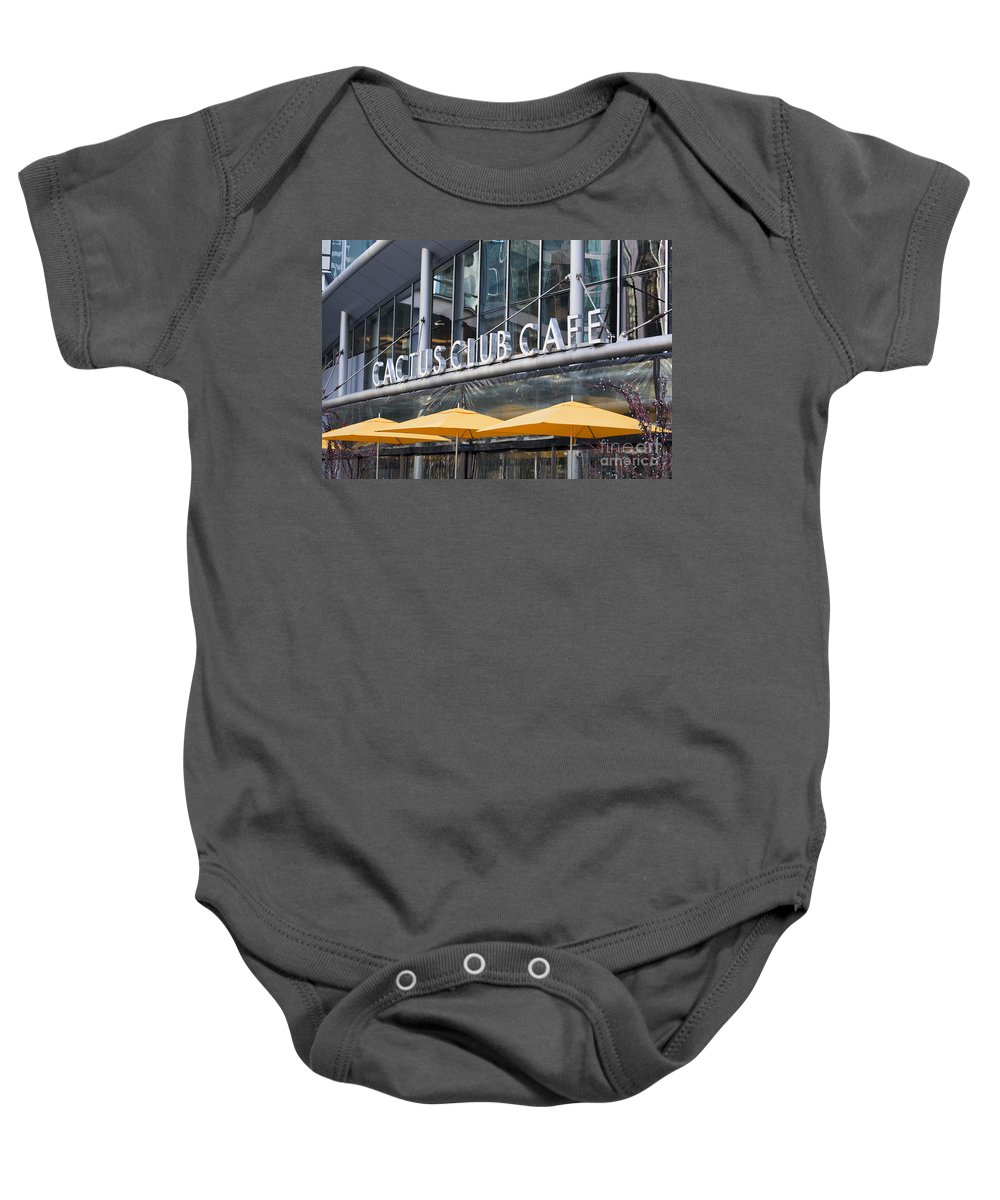 Cactus Club Cafe Baby Onesie featuring the photograph Cactus Club Cafe Vancouver by Chris Dutton