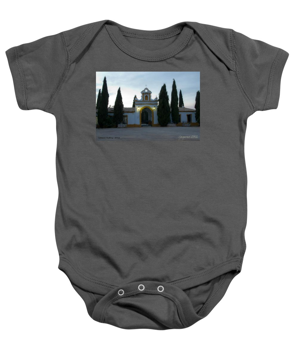 Spain Baby Onesie featuring the painting Canada De Rosal Spain by Bruce Nutting