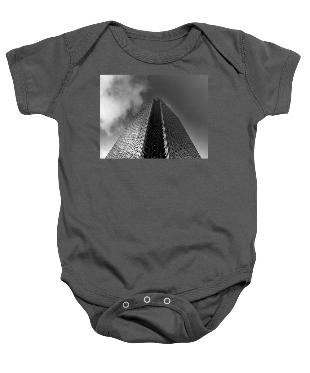 Canary Wharf Baby Onesie featuring the photograph Canary Wharf London 3 by David Rives