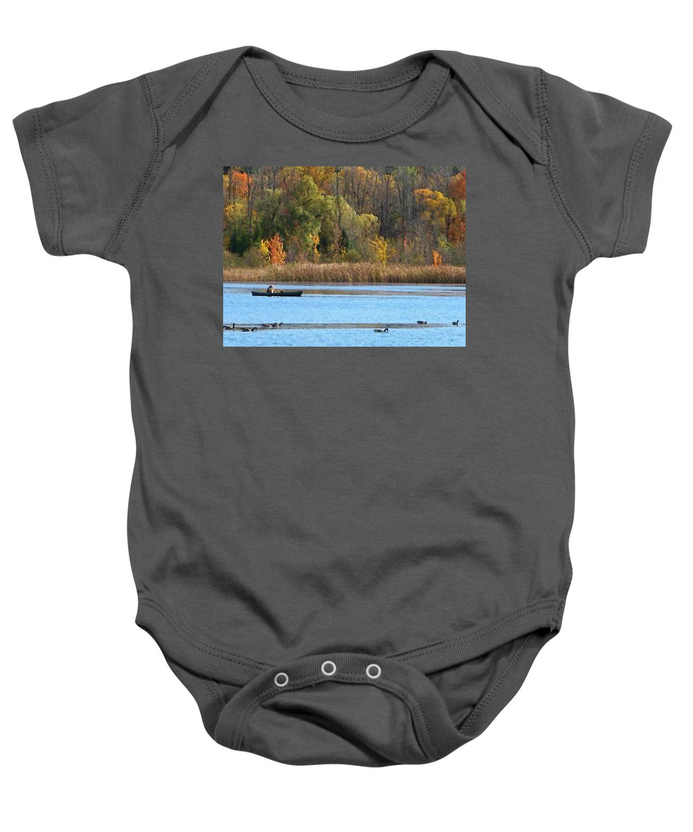 Canoe Baby Onesie featuring the photograph Canoer by Aimee L Maher ALM GALLERY