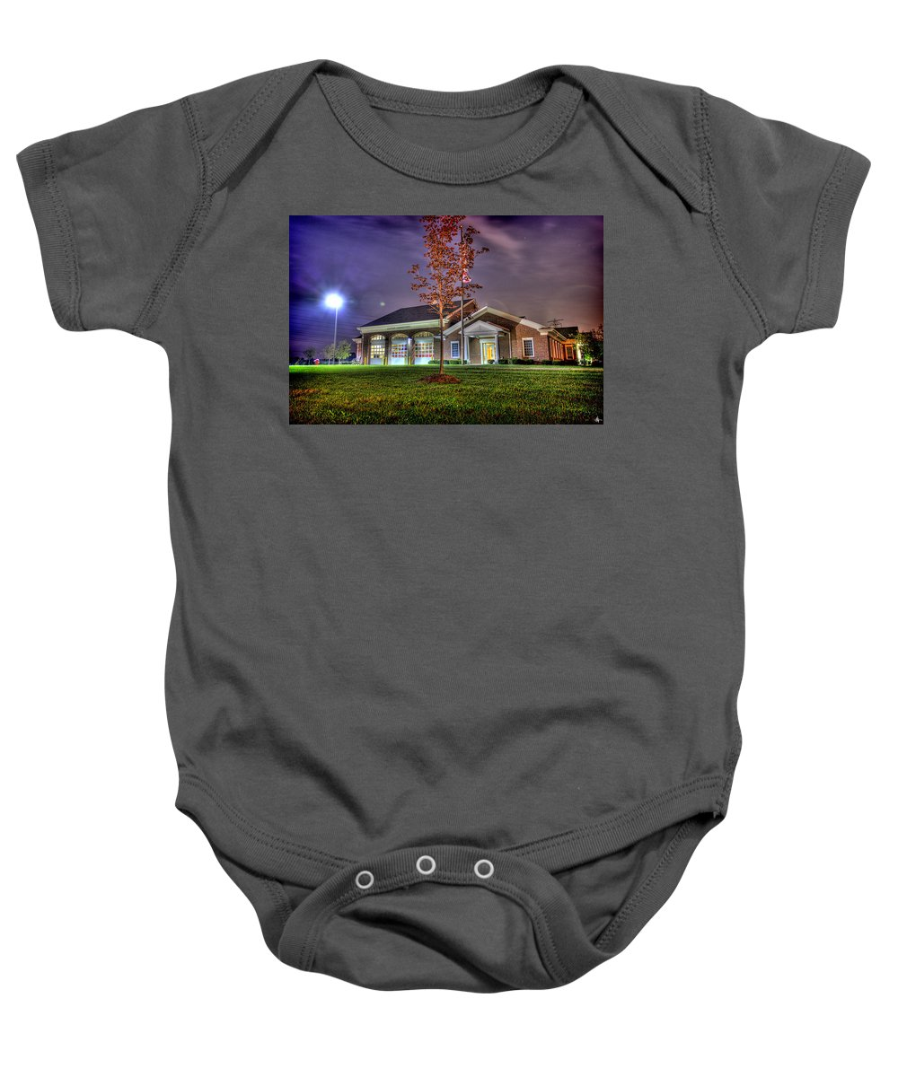 Canton Fire Department Baby Onesie featuring the photograph Canton Fire Department Canton Mi by A And N Art