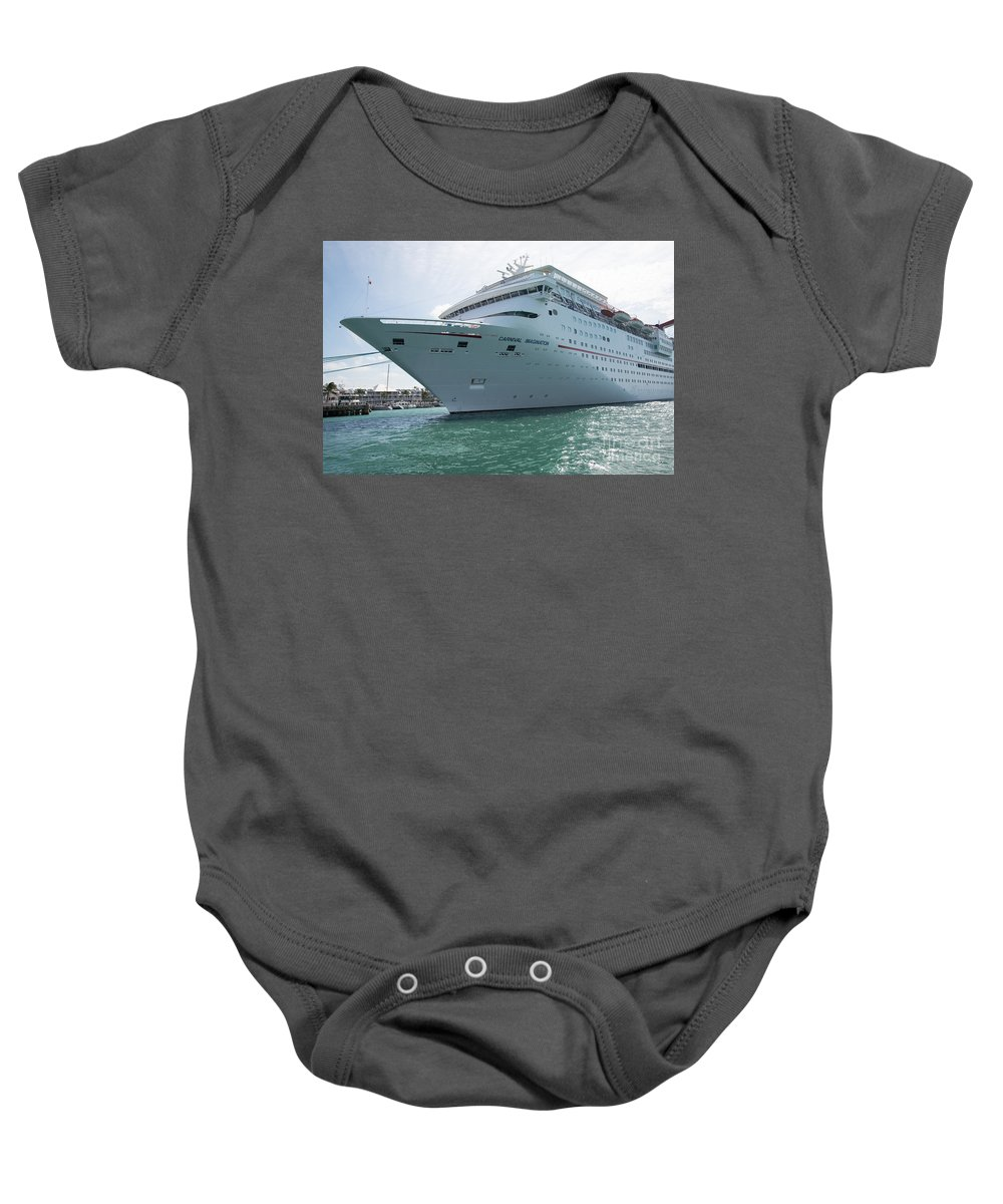 Boats Baby Onesie featuring the digital art Carnival Imagination by Carol Ailles