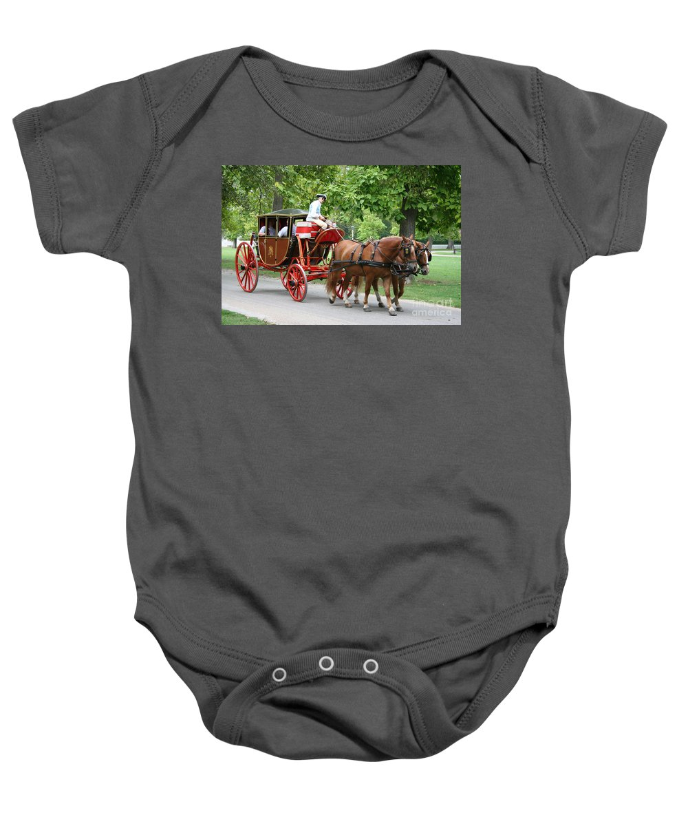 Carriage Baby Onesie featuring the photograph Carriage by Christiane Schulze Art And Photography