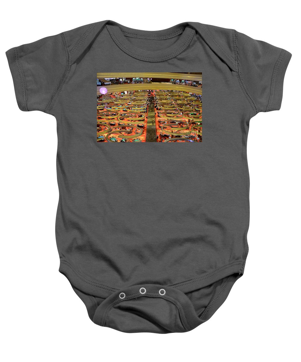 Singapore Baby Onesie featuring the photograph Casino Floor Marina Bay Sands Singapore by Imran Ahmed