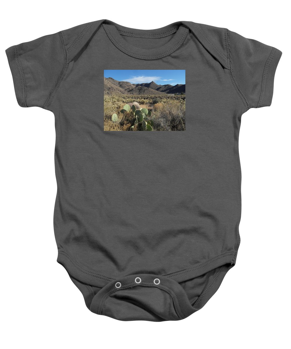 Landscape Baby Onesie featuring the photograph Castle Rock Mountain by James Welch