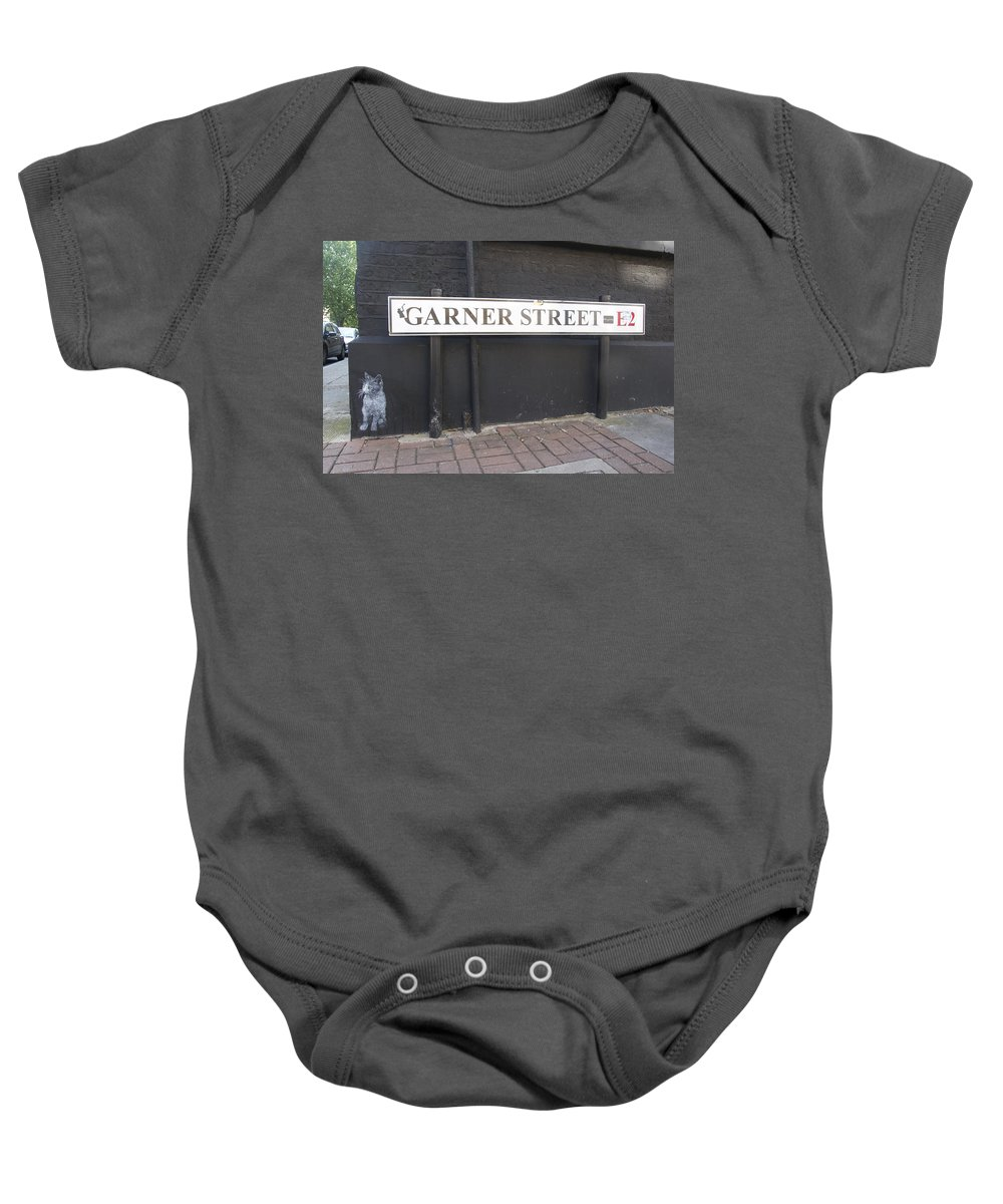 Street Art Baby Onesie featuring the photograph Cat By C215 by David Resnikoff