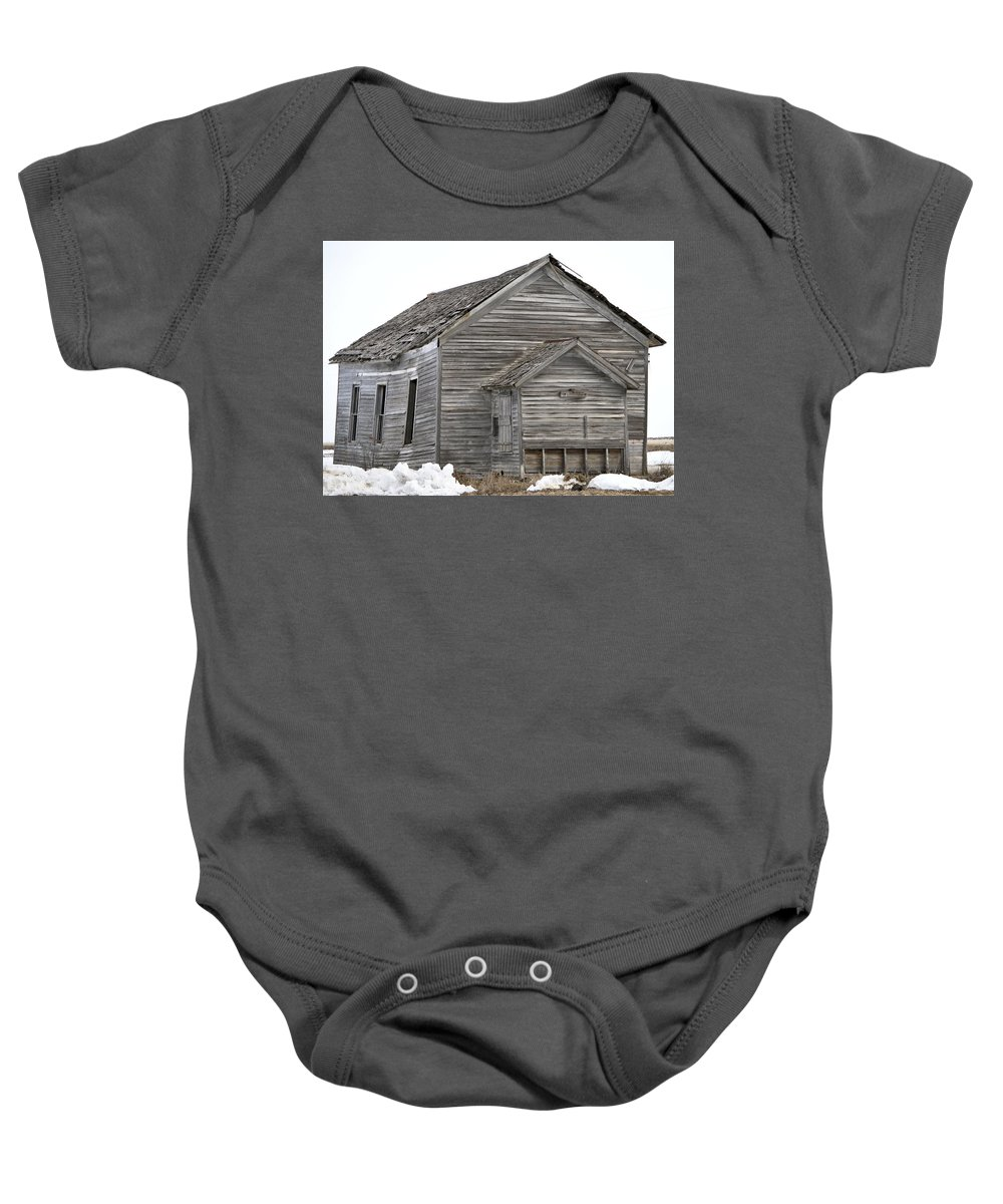 Cat Baby Onesie featuring the photograph Cat School House by Bonfire Photography