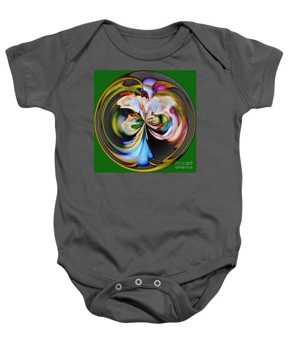 Catalpa Tree Baby Onesie featuring the photograph Catalpa Orb by Jeff McJunkin