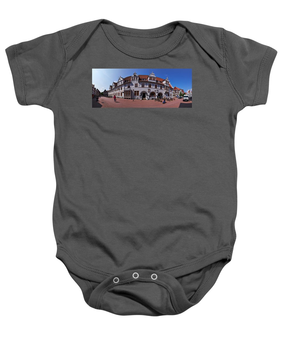 Alankomaat Baby Onesie featuring the photograph Celle Rathaus by Jouko Lehto