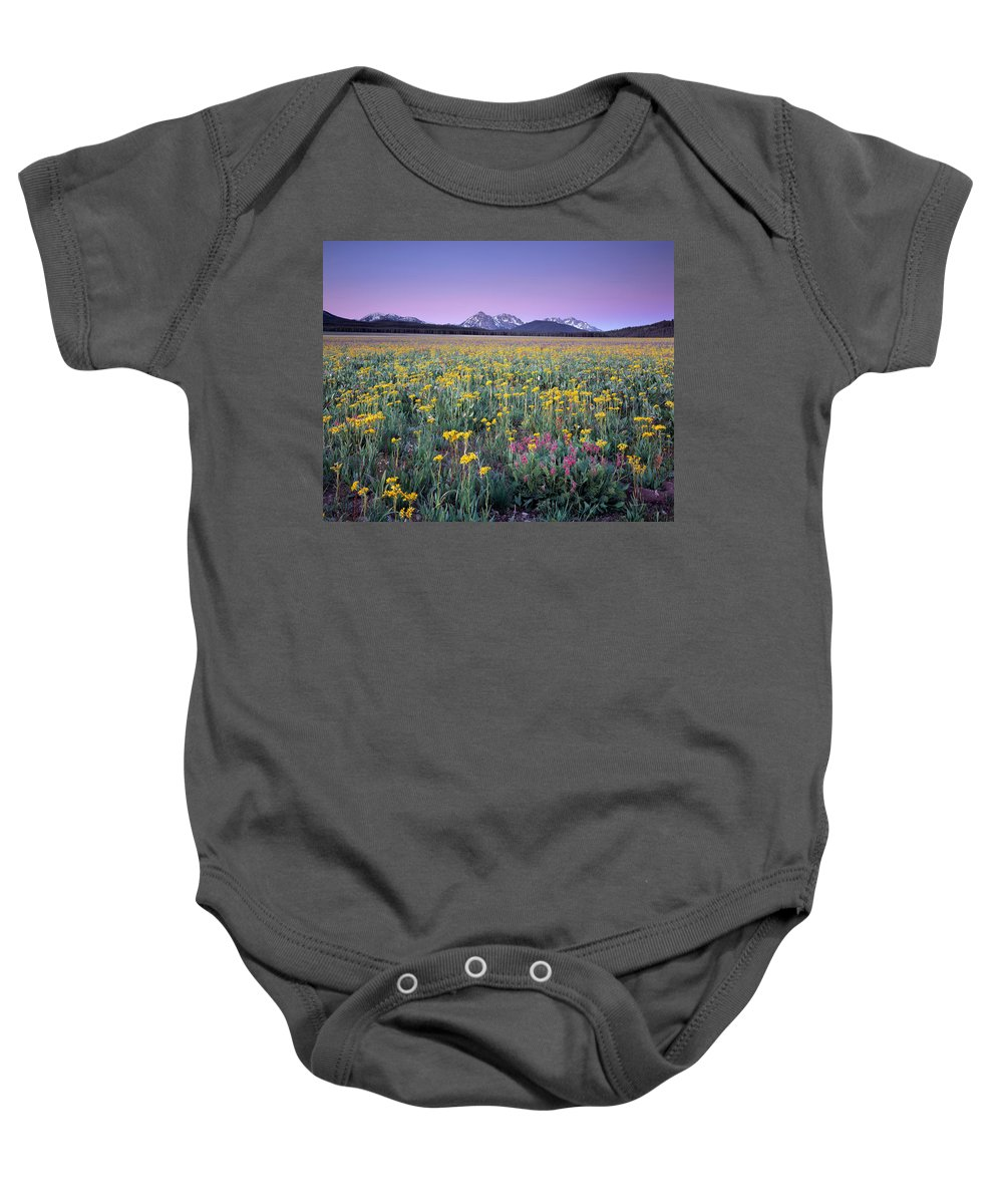 Beautiful Baby Onesie featuring the photograph Central Idaho Color by Leland D Howard