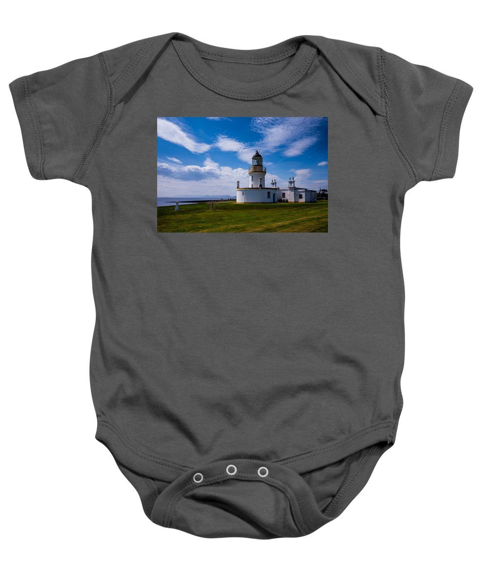 Lighthouse Baby Onesie featuring the photograph Chanonry Point Lighthouse by Hakon Soreide