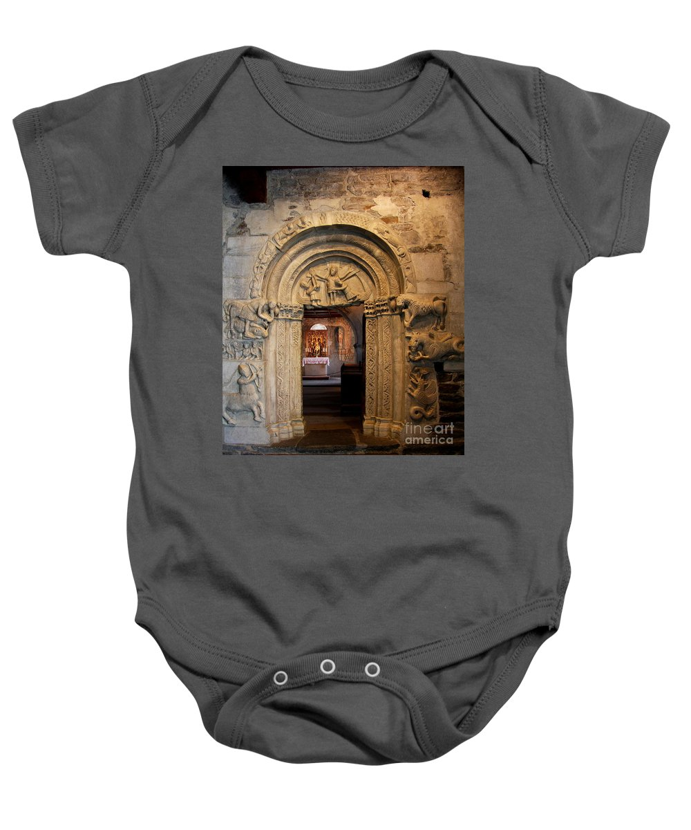 Chapel Baby Onesie featuring the photograph Chapel Entrance by Christiane Schulze Art And Photography