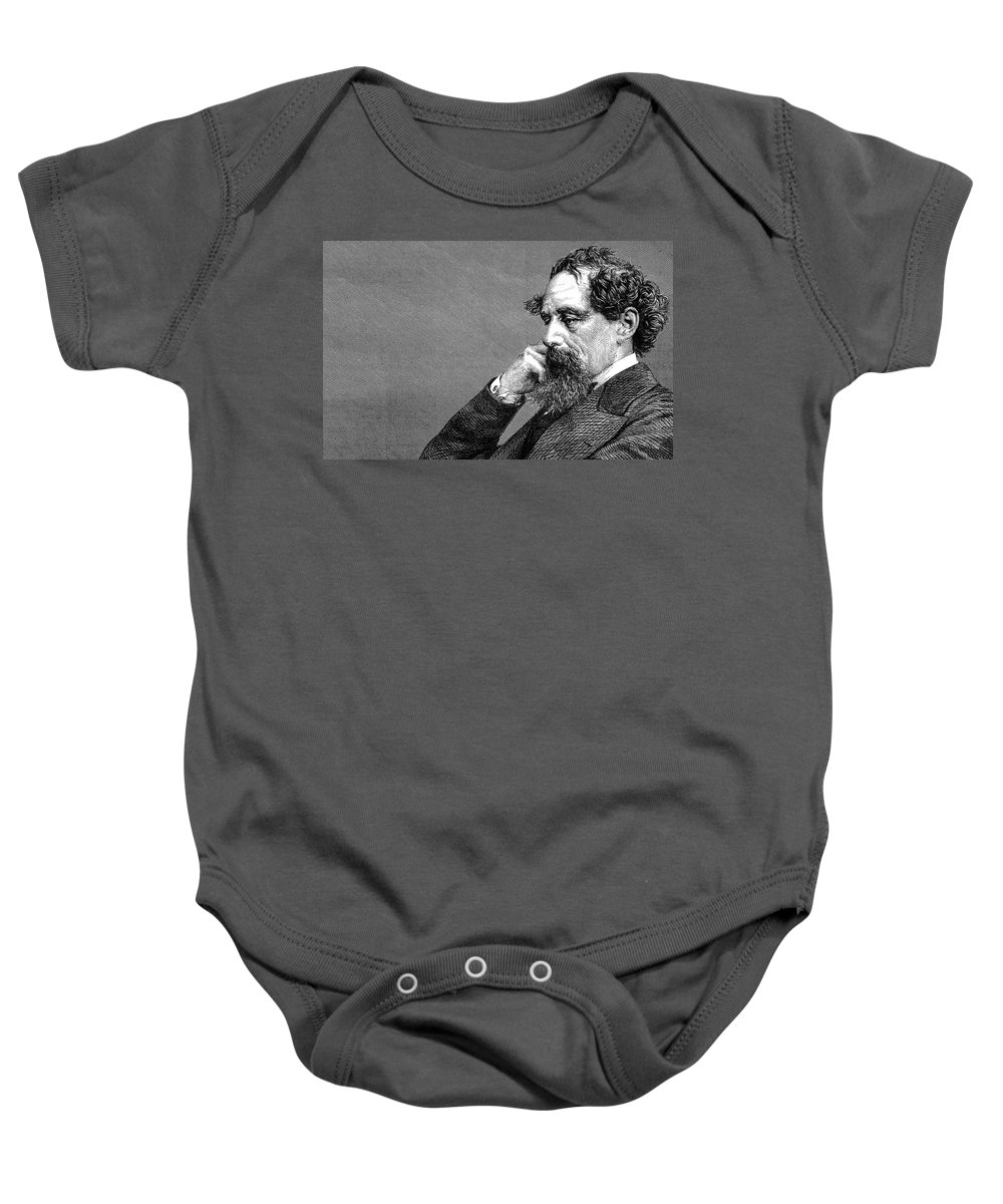 Dickens Baby Onesie featuring the photograph Charles Dickens by Daniel Hagerman