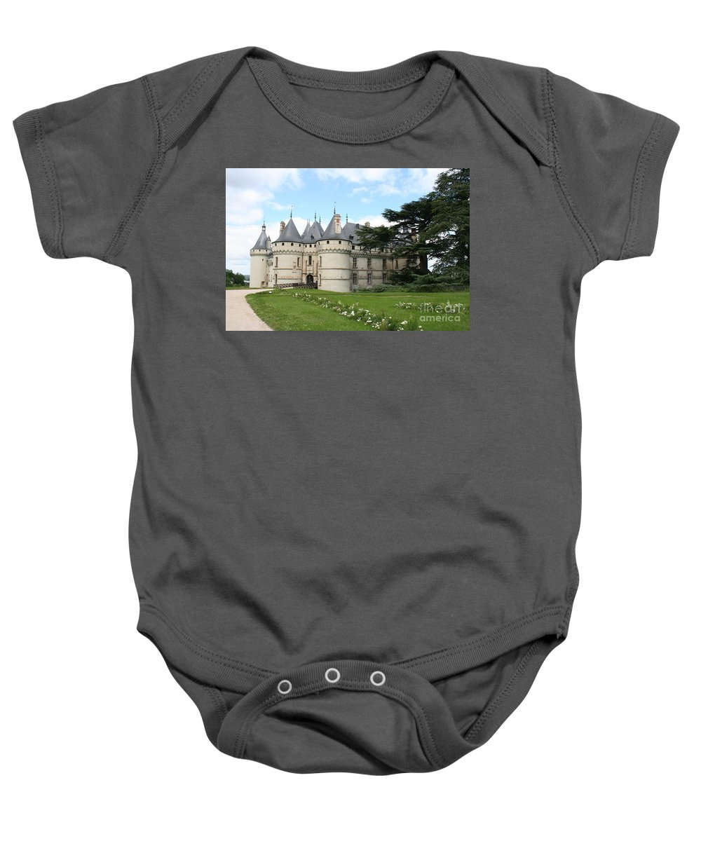 Palace Baby Onesie featuring the photograph Chateau Chaumont From The Garden by Christiane Schulze Art And Photography