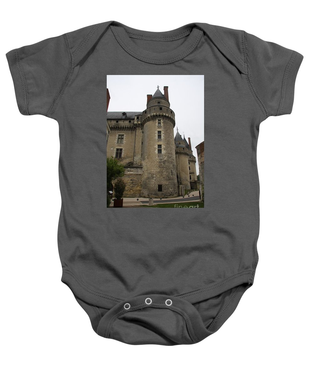 Castle Baby Onesie featuring the photograph Chateau De Langeais - France by Christiane Schulze Art And Photography