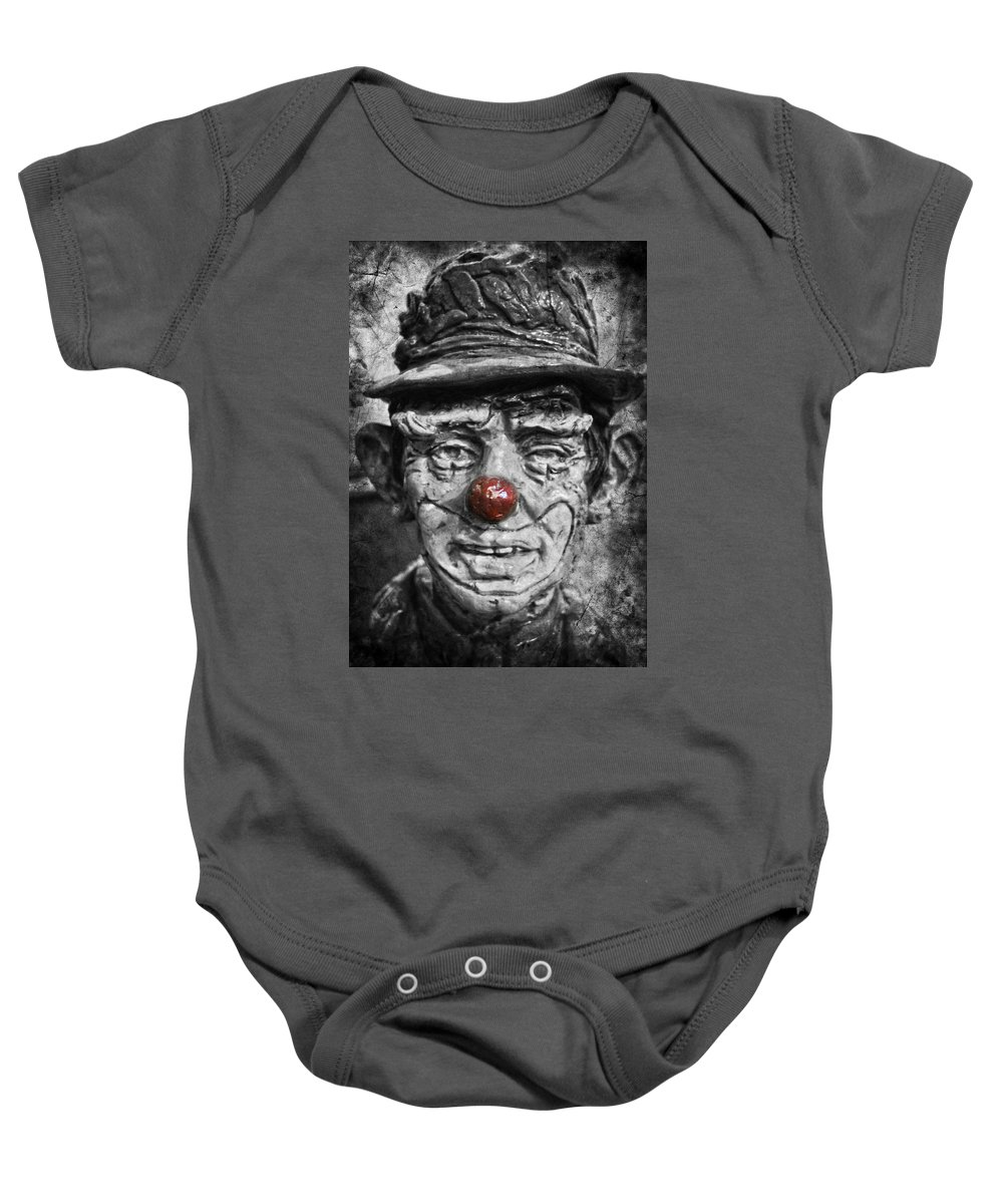 Clown Baby Onesie featuring the photograph Cheerful Charlie by The Artist Project
