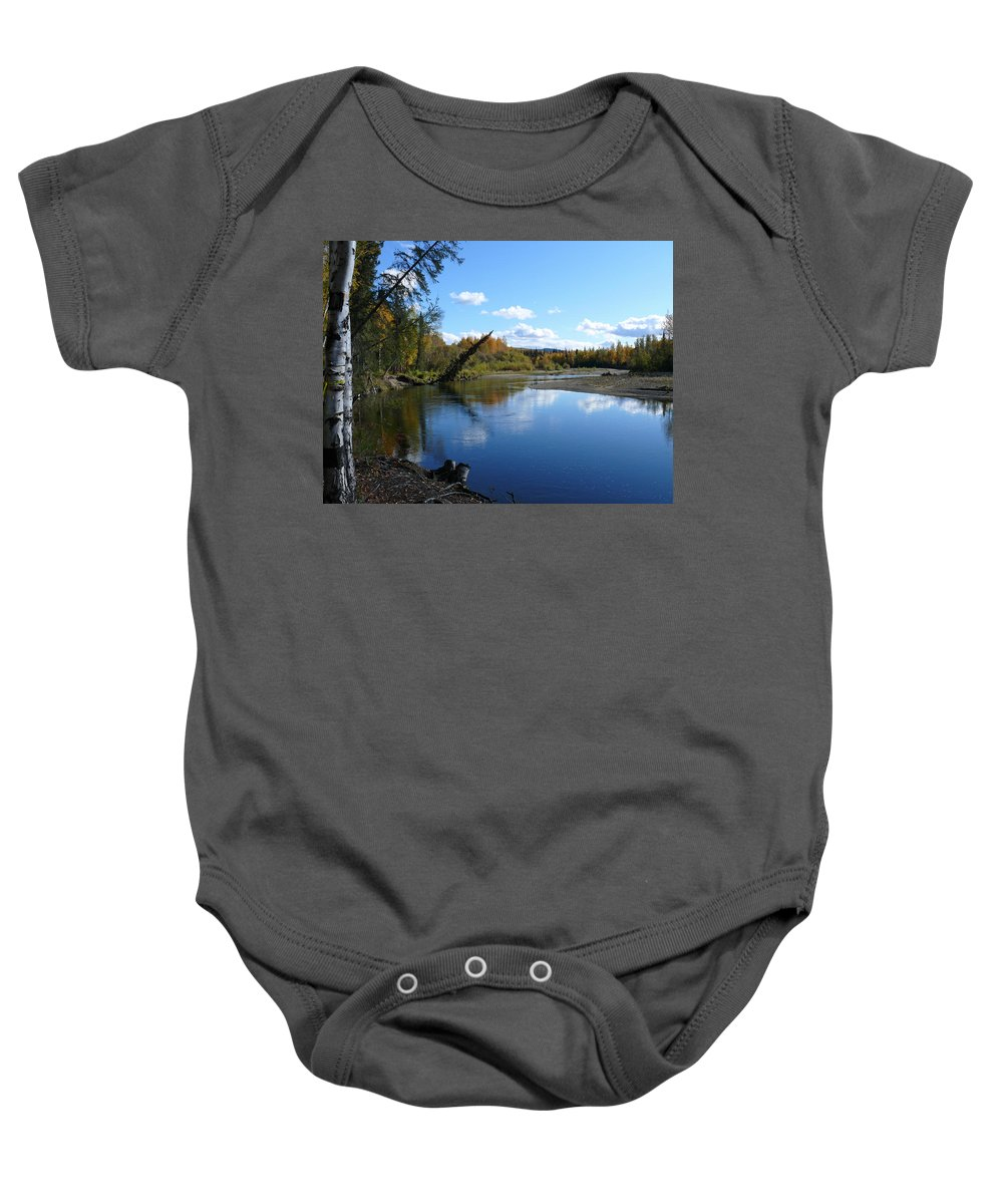 Chena Baby Onesie featuring the photograph Chena River by Dee Carpenter