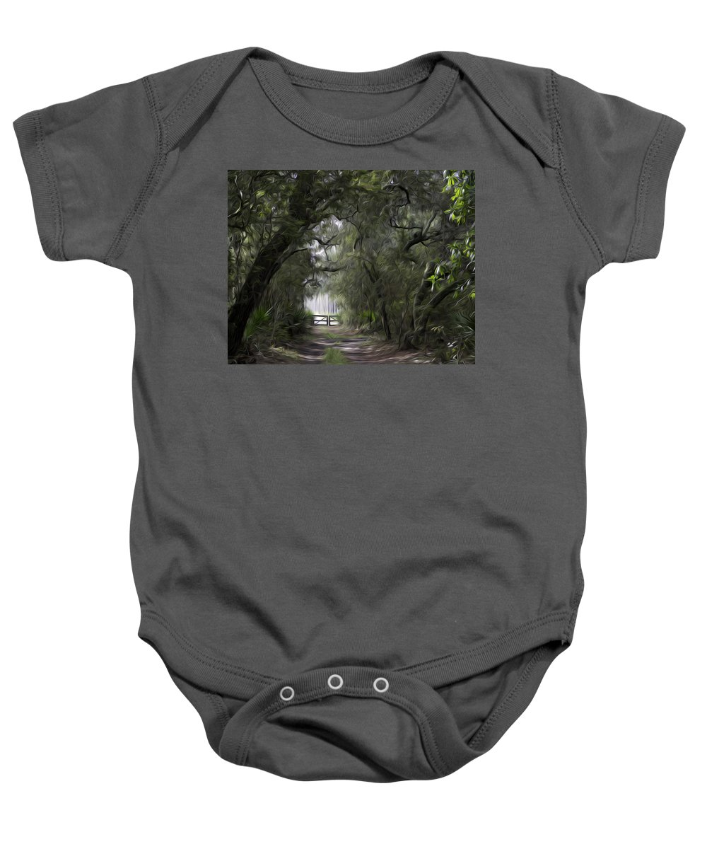 Okefenokee Baby Onesie featuring the photograph Chesser Farm by James Ekstrom