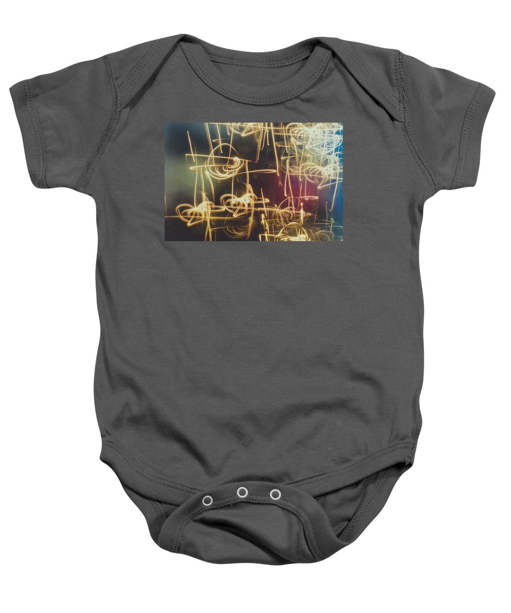 Abstract Baby Onesie featuring the photograph Christmas Abstract V by Marco Oliveira