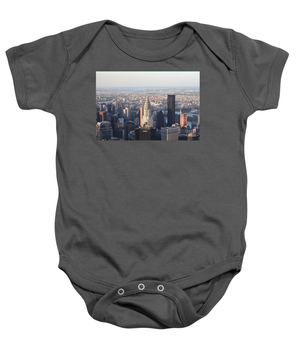 Chrysler Building From The Empire State Building Baby Onesie featuring the photograph Chrysler Building From The Empire State Building by John Telfer