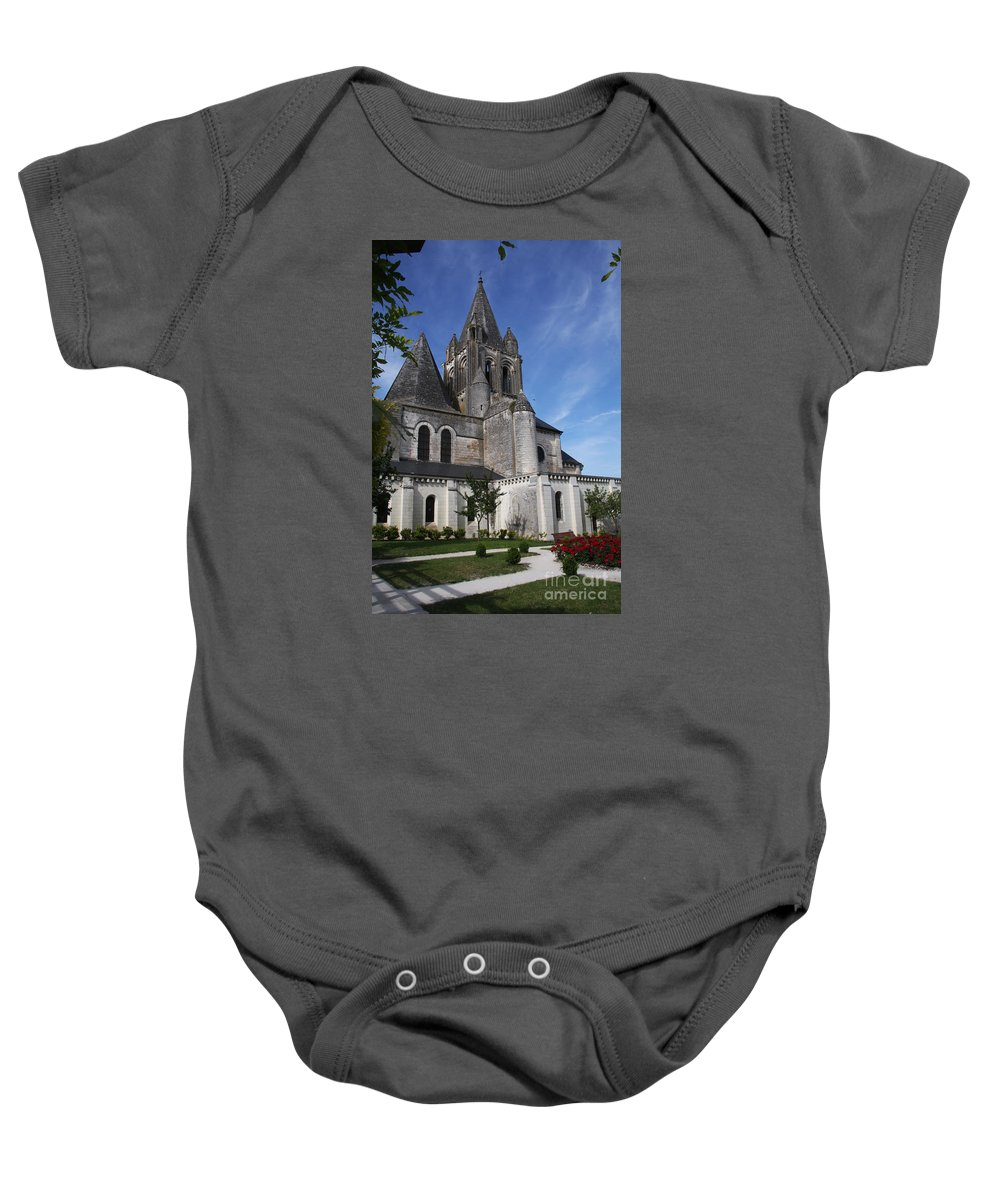Church Baby Onesie featuring the photograph Church - Loches - France by Christiane Schulze Art And Photography