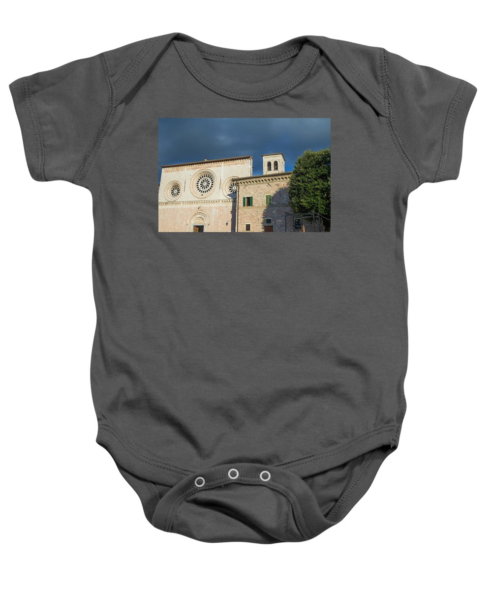 Church Baby Onesie featuring the photograph Church Of Di San Pietro In Assisi by Jaroslav Frank