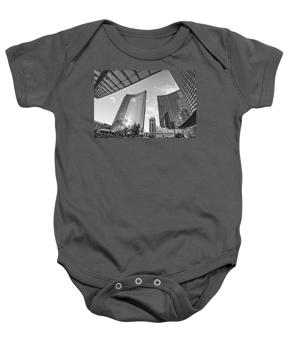 Vdara Hotel And Spa Baby Onesie featuring the photograph Citycenter - View Of The Vdara Hotel And Spa Located In Citycenter In Las Vegas by Jamie Pham