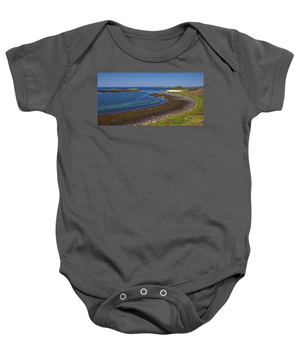 Claigan Baby Onesie featuring the photograph Claigan Coral Beach by David Pringle