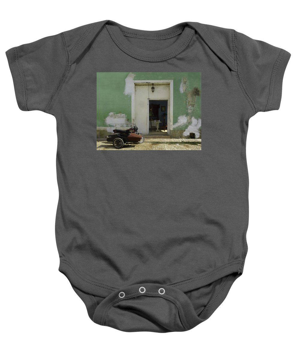 Bike Baby Onesie featuring the photograph Classical Dining For Two.. by A Rey