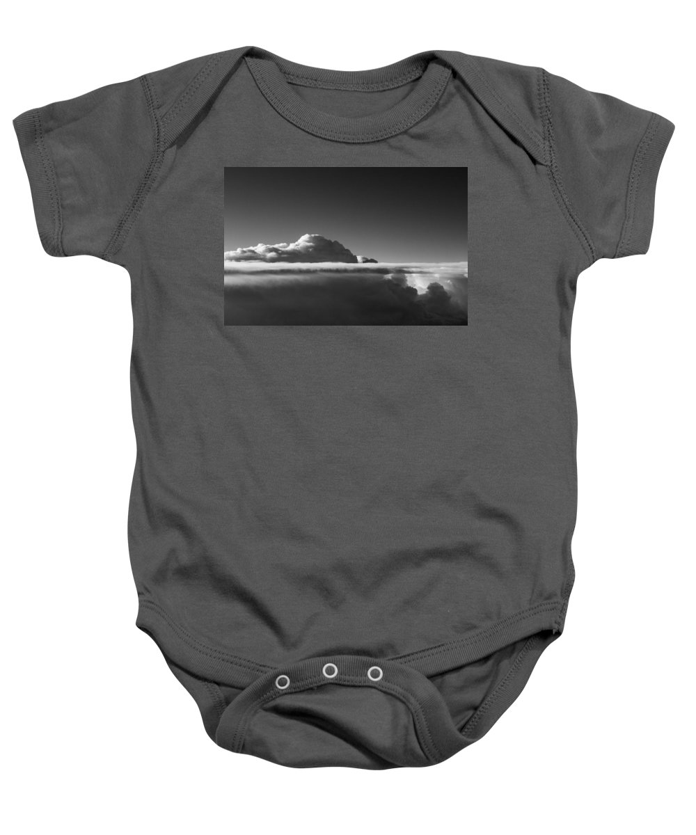 Clouds Baby Onesie featuring the photograph Clear Above by John Daly
